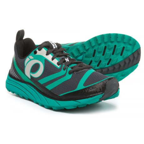 Pearl Izumi E:MOTION Trail N2 V2 Running Shoes (For Women) in Shadow Grey/Dynasty Green