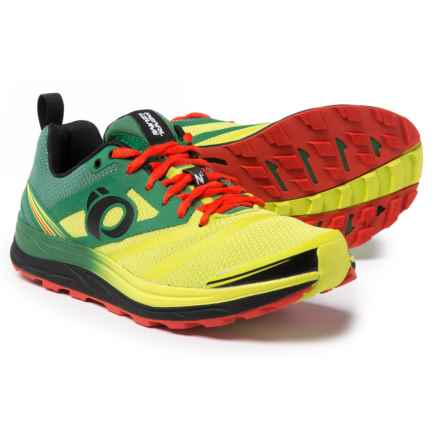 Pearl Izumi E:MOTION Trail N2 V3 Running Shoes (For Men) in Amazon/Lime Punch - Closeouts