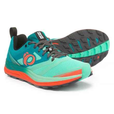 Pearl Izumi E:MOTION Trail N2 V3 Running Shoes (For Women) in Enamel Blue/Aqua Mint - Closeouts