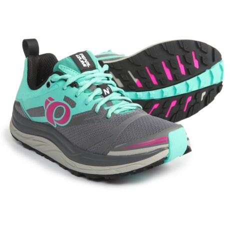 Pearl Izumi E:MOTION Trail N3 Running Shoes (For Women) in Smoked Pearl/Aqua Mint
