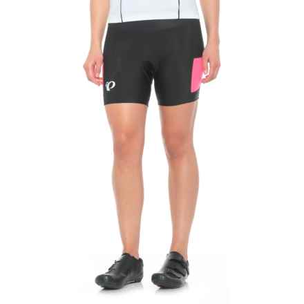 Pearl Izumi Escape Sugar Cycling Shorts (For Women) in Black/Screaming Pink - Closeouts