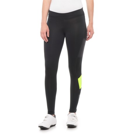 Pearl Izumi ESCAPE Sugar Thermal Cycling Tights (For Women) in  Black Screaming Yellow 631ac1cc2