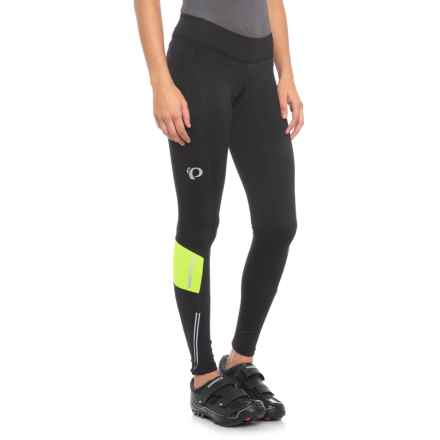 Pearl Izumi ESCAPE Sugar Thermal Cycling Tights (For Women) in Black/Screaming Yellow - Closeouts