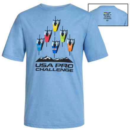 Pearl Izumi Event T-Shirt - Short Sleeve (For Big Kids) in Light Blue - Closeouts