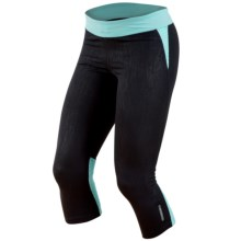 Pearl Izumi Flash 3/4 Tights (For Women) in Black/Aruba Blue - Closeouts