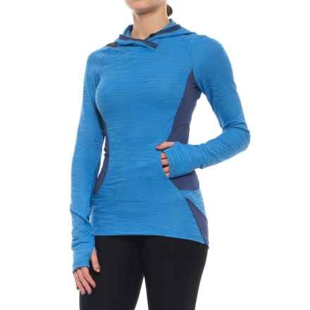 Pearl Izumi Flash Hoodie (For Women) in Sky Blue/Deep Indigo - Closeouts