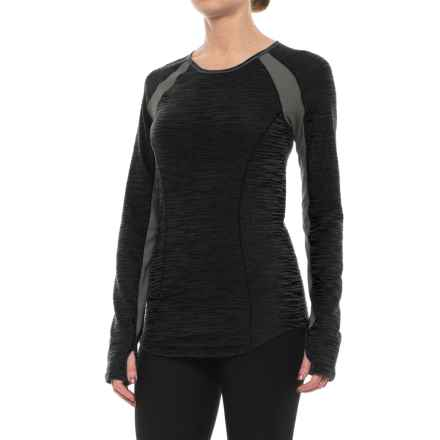 Pearl Izumi Flash Running Shirt - UPF 50+, Long Sleeve (For Women) in Black/Shadow Grey - Closeouts
