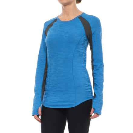 Pearl Izumi Flash Running Shirt - UPF 50+, Long Sleeve (For Women) in Sky Blue/Shadow Grey - Closeouts