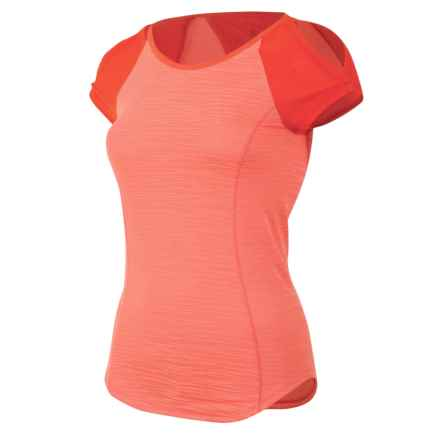 Pearl Izumi Flash Running T-Shirt - UPF 50+, Short Sleeve (For Women) in Living Coral/Mandarin Red - Closeouts
