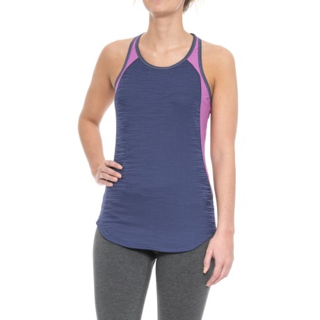 Pearl Izumi Flash Tank Top - UPF 50+, Racerback (For Women) in Deep Indigo/Iris Orchid