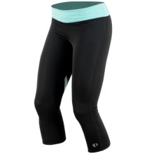 Pearl Izumi Fly 3/4 Tights (For Women) in Black/Aruba Blue - Closeouts