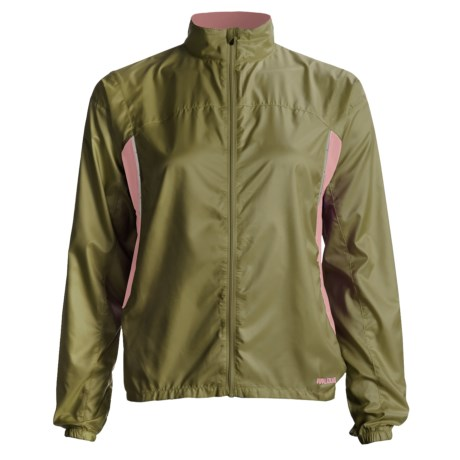 Pearl Izumi Fly Running Jacket (For Women) in Dark Olive/Coral