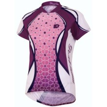 Pearl Izumi Garmin-Inspired Cycling Jersey - ¾-Zip, Short Sleeve (For Women) in Fleurette Orchid - Closeouts