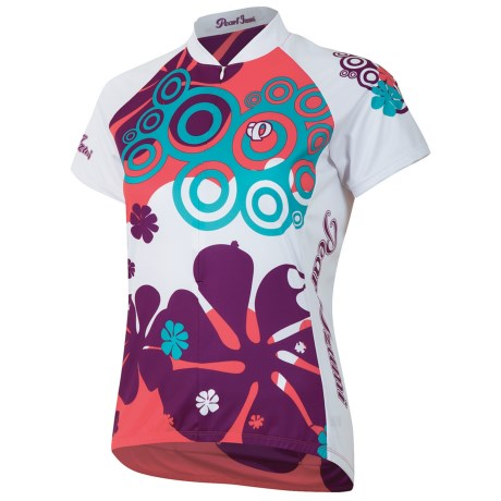 Pearl Izumi Garmin-Inspired Cycling Jersey - ¾-Zip, Short Sleeve (For Women) in Triangle Blackberry