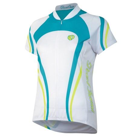 Pearl Izumi Garmin-Inspired Cycling Jersey - ¾-Zip, Short Sleeve (For Women) in Tiger Scuba Blue