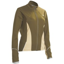 Pearl Izumi Gavia Pro Cycling Jacket - Soft Shell (For Women) in Dark Olive/Desert Sand