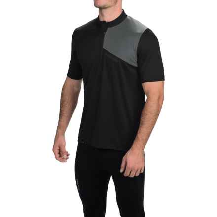 Pearl Izumi Impact Cycling Jersey - Zip Neck, Short Sleeve (For Men) in Black/Shadow Grey - Closeouts