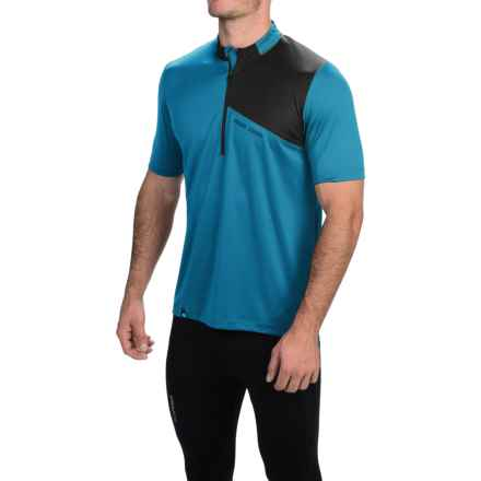 Pearl Izumi Impact Cycling Jersey - Zip Neck, Short Sleeve (For Men) in Electric Blue/Black - Closeouts