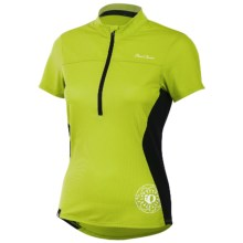 Pearl Izumi Impact Cycling Jersey - Zip Neck, Short Sleeve (For Women) in Lime - Closeouts