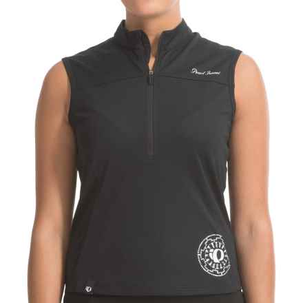 Pearl Izumi Impact Cycling Jersey - Zip Neck, Sleeveless (For Women) in Black - Closeouts