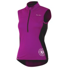 Pearl Izumi Impact Cycling Jersey - Zip Neck, Sleeveless (For Women) in Orchid - Closeouts