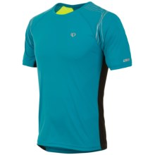 Pearl Izumi Infinity In-R-Cool® Shirt - Short Sleeve (For Men) in Electric Blue/Screaming Yellow - Closeouts