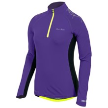 Pearl Izumi Infinity In-R-Cool® Shirt - UPF 50+, Zip Neck, Long Sleeve (For Women) in Dahlia/Black - Closeouts