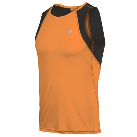 Pearl Izumi Infinity In-R-Cool® Singlet Top (For Men) in Safety Orange/White