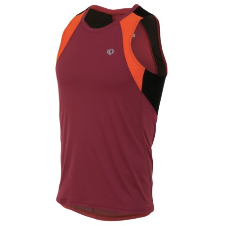 Pearl Izumi Infinity In-R-Cool® Singlet Top (For Men) in Sangria/Cherry Tomato
