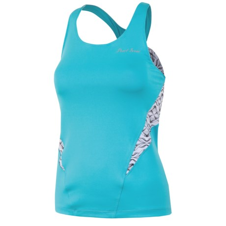 Pearl Izumi Infinity Sport Tank Top - UPF 50+, Built-In Bra (For Women) in Scuba Blue/White Hex