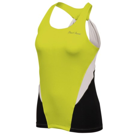 Pearl Izumi Infinity Sport Tank Top - UPF 50+, Built-In Bra (For Women) in White/Lime