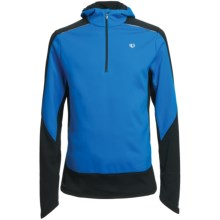 Pearl Izumi Infinity Wind Blocking Hoodie Sweatshirt - Zip Neck (For Men) in True Blue/Black - Closeouts