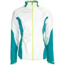 Pearl Izumi Infinity Wind Blocking Jacket (For Women) in White/Peacock - Closeouts