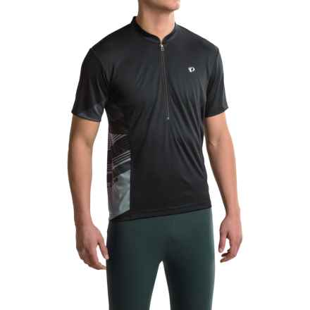 Pearl Izumi Journey Cycling Jersey - Zip Neck, Short Sleeve (For Men) in Black/Monument Grey - Closeouts