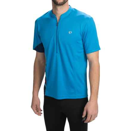 Pearl Izumi Journey Cycling Jersey - Zip Neck, Short Sleeve (For Men) in Brilliant Blue - Closeouts