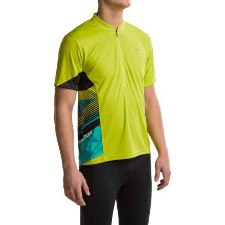Pearl Izumi Journey Cycling Jersey - Zip Neck, Short Sleeve (For Men) in Lime Punch - Closeouts