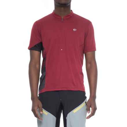 Pearl Izumi Journey Cycling Jersey - Zip Neck, Short Sleeve (For Men) in Tibetan Red - Closeouts