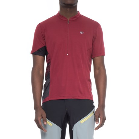 Pearl Izumi Journey Cycling Jersey - Zip Neck, Short Sleeve (For Men) in Tibetan Red