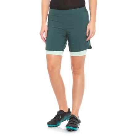 Pearl Izumi Journey Mountain Bike Shorts (For Women) in Sea Moss/Mist Green - Closeouts