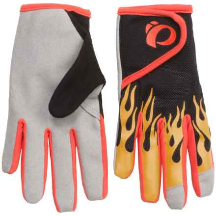 Pearl Izumi Jr. Mountain Bike Gloves (For Big Kids) in Blazing Orange - Closeouts