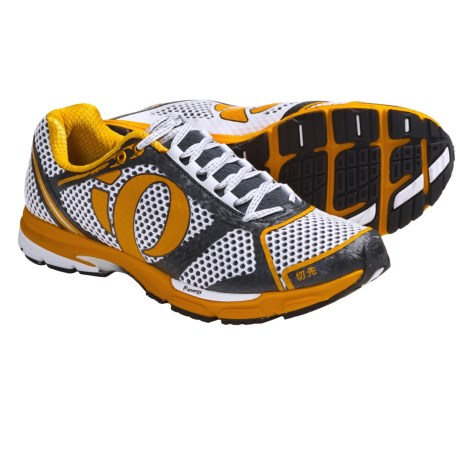 Pearl Izumi Kissaki Running Shoes (For Men) in Black/Safety Orange