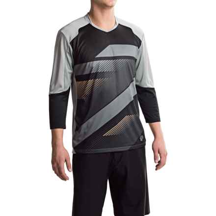 Pearl Izumi Launch Cycling Jersey - 3/4 Sleeve (For Men) in Black/Monument Grey - Closeouts