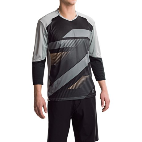 Pearl Izumi Launch Cycling Jersey - 3/4 Sleeve (For Men) in Black/Monument Grey