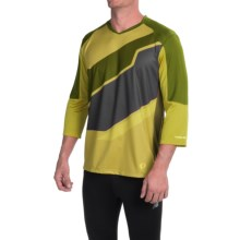 Pearl Izumi Launch Cycling Jersey - 3/4 Sleeve (For Men) in Citronelle - Closeouts