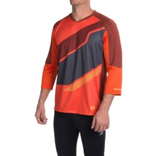 Pearl Izumi Launch Cycling Jersey - 3/4 Sleeve (For Men) in Mandarin Red - Closeouts