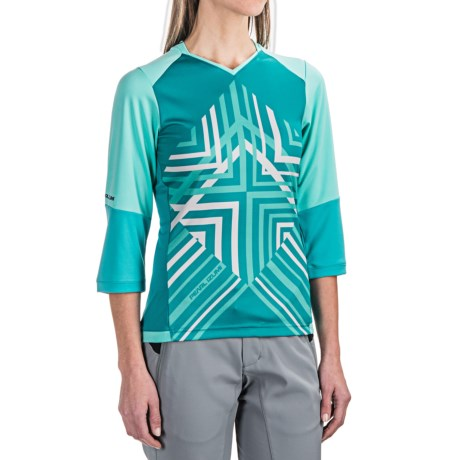 Pearl Izumi Launch Cycling Jersey - 3/4 Sleeve (For Women) in Aqua Mint