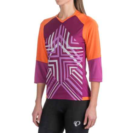 Pearl Izumi Launch Cycling Jersey - 3/4 Sleeve (For Women) in Clementine - Closeouts