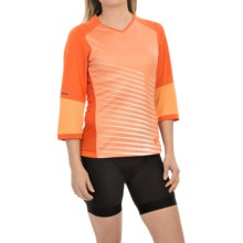 Pearl Izumi Launch Cycling Jersey - 3/4 Sleeve (For Women) in Mandarin Red - Closeouts