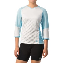 Pearl Izumi Launch Cycling Jersey - 3/4 Sleeve (For Women) in White - Closeouts