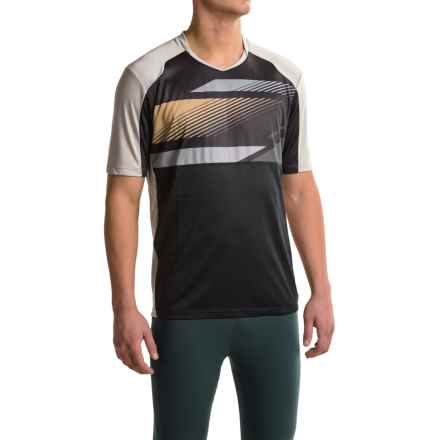 Pearl Izumi Launch Cycling Jersey - Short Sleeve (For Men) in Black/Monument Grey - Closeouts